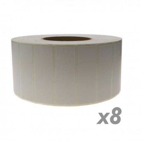 Rollo bobina de 4800 etiquetas adhesivas para impresora transferencia térmica 76.2x25.4mm 8 unidades