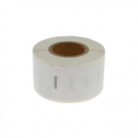 Rollo bobina de 130 etiquetas adhesivas compatibles con Dymo S0722370 y Dymo 99010 28x89mm