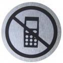 Señal prohibido teléfono móvil de acero inoxidable de 65mm