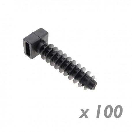 Taco a presión negro 8mm para bridas 100 unidades
