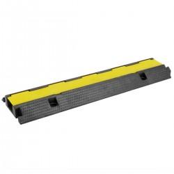 Pasacables de suelo para protección de cables eléctricos de 1 vía 99x26cm negro