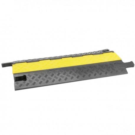 Pasacables de suelo para protección de cables eléctricos de 2 vías 98x44cm negro