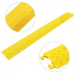 Pasacables de suelo para protección de cables eléctricos de 1 vía 100x13 cm amarillo rígido