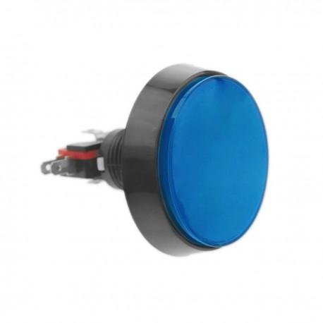 Pulsador arcade momentáneo 60 mm 1NO 1NC 250V 15A SPDT azul con luz