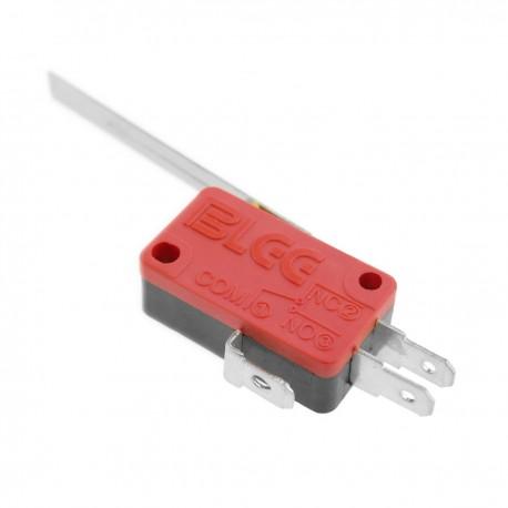 Micro interrupor momentáneo 1NO 1NC 250V 15A SPDT con palanca de 48mm