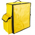 Mochila isotérmica amarilla 50x23x49 cm para entrega de pedidos de comida en moto y bicicleta