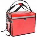 Mochila isotérmica roja 45x33x35 cm para entrega de pedidos de comida en moto y bicicleta
