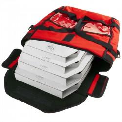 Bolsa isotérmica roja 40 x 40 x 16 cm para entrega de pizza a domicilio en moto y bicicleta