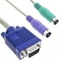 Cable VGA Teclado Ratón ATX 3m (M/M)