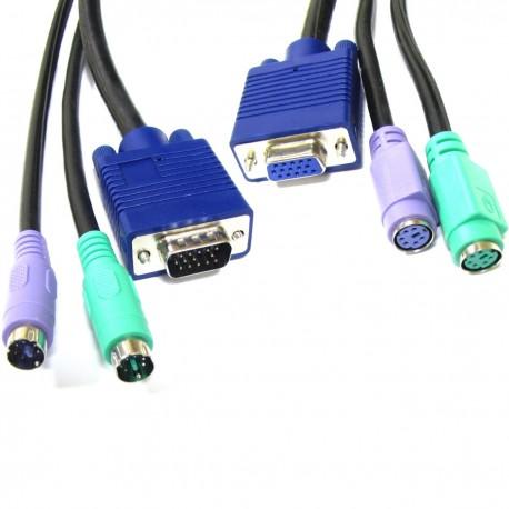 Cable VGA Teclado Ratón ATX 5m (M/H)