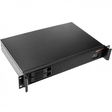 "Caja rack 19"" IPC mini-ITX 1.5U 2x3.5"" o 2x2.5"" profundidad 280 mm"