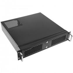 """Caja rack 19"""" IPC Micro-ATX Mini-ITX 2U 4x3.5"""" 1x5.25"""" profundidad 424 mm"""