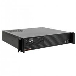 """Caja rack 19"""" IPC mini-ITX micro-ATX 2U 1x5.25"""" 5x3.5"""" fondo 400mm"""