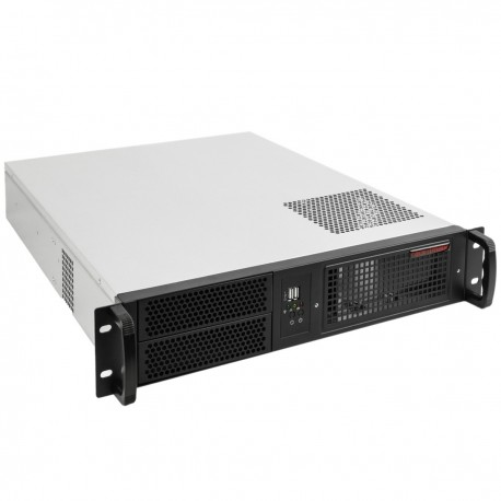 "Caja rack 19"" IPC ATX 2U 2x5.25"" 4x3.5"" fondo 550mm"
