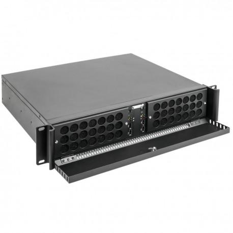 """Caja rack 19"""" IPC mini-ITX 2U 4x3.5"""" fondo 360mm"""