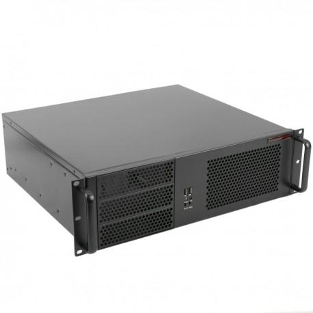 """Caja rack 19"""" IPC microATX ATX 3U 3x5.25"""" 5x3.5"""" fondo 390mm"""