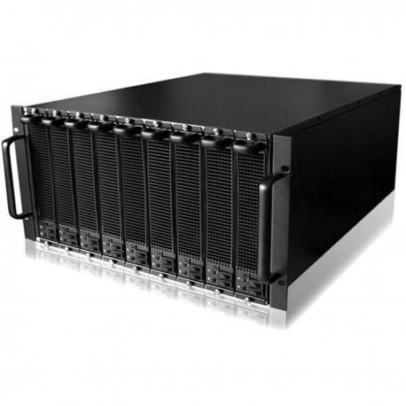 Caja ATX rack19 5U F545 18x3.5 para 9 Atom Mini-ITX extraible de RackMatic