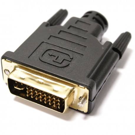 Conector DVI-I macho para montaje de cable con soldadura