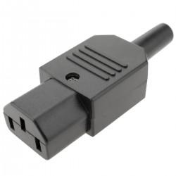 Clavija IEC-60320 C13. Enchufe hembra recto