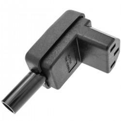 Clavija IEC-60320 C13. Enchufe hembra con ángulo