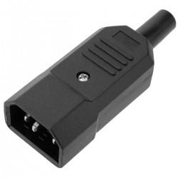 Clavija IEC-60320 C14. Enchufe macho recto
