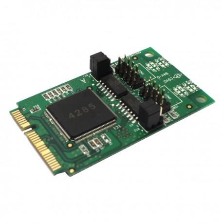 Adaptador Mini PCIe a 2 puerto serie RS422 y RS485