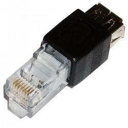 Adaptador RJ45 a USB (RJ45-M/USB-AH)