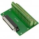 Adaptador de conexión serie DB37-macho a bloque de terminales de 38-pin
