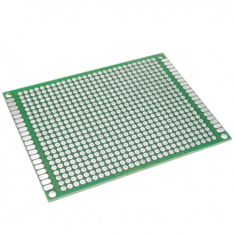 Placa PCB de prototipo de circuito impreso de soldadura de doble cara 6x8cm