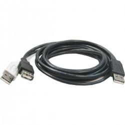 Cable USB 2.0 de doble alimentación 2AM a AH 3m