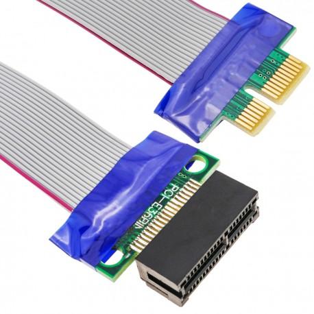 Cable extensión PCIe 1X 19cm riser card