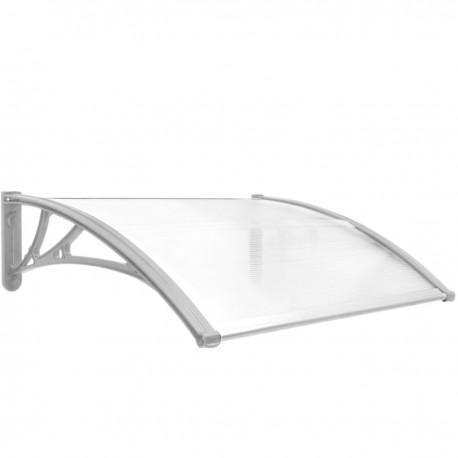 Tejadillo de protección 80x60cm Marquesina para puertas y ventanas gris