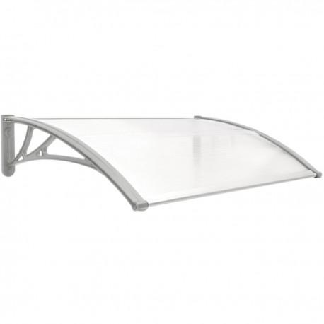 Tejadillo de protección 100x60cm Marquesina para puertas y ventanas gris