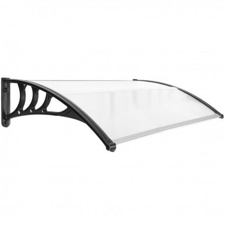 Tejadillo de protección 150x80cm Marquesina para puertas y ventanas negro