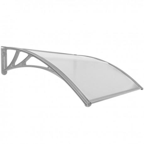 Tejadillo de protección 120x100cm Marquesina para puertas y ventanas gris