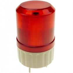 Sirena luminosa de LEDs 82mm de color rojo con efecto de rotación
