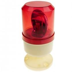 Sirena luminosa 78 mm de color rojo con rotación motorizada