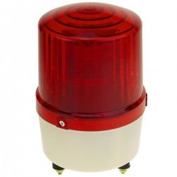 Sirena luminosa de LEDs 115 mm de color rojo con efecto de rotación