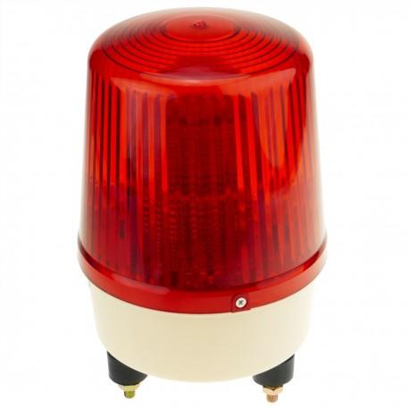 Sirena luminosa de LEDs 160 mm de color rojo con efecto de rotación