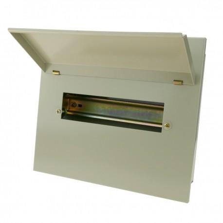 Caja de distribución eléctrica de 10 módulos 18mm IP40 para empotrar de metal SPN