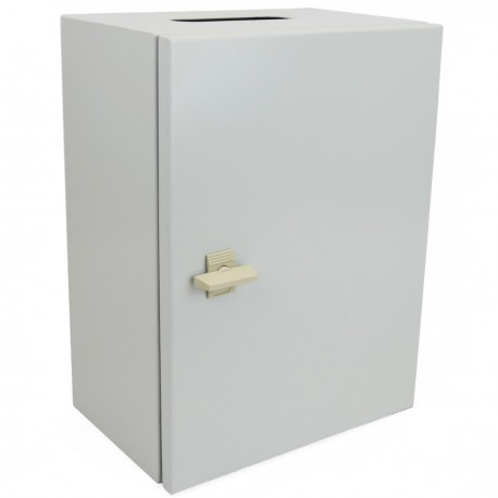Caja de distribución eléctrica metálica con protección IP65 para fijación a pared 200x200x150mm
