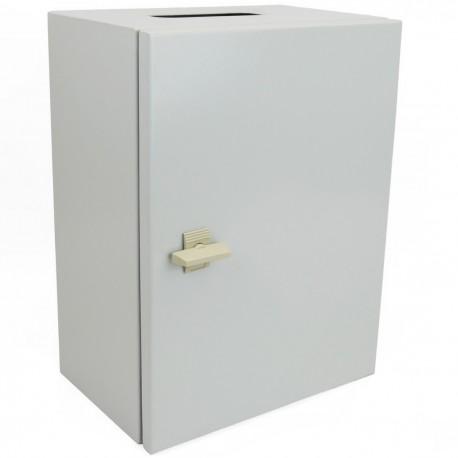 Caja de distribución eléctrica metálica con protección IP65 para fijación a pared 300x250x200mm