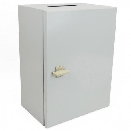 Caja de distribución eléctrica metálica con protección IP65 para fijación a pared 500x300x300mm