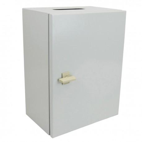 Caja de distribución eléctrica metálica con protección IP65 para fijación a pared 500x400x200mm