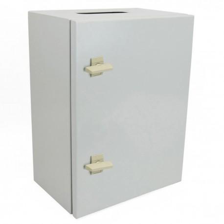 Caja de distribución eléctrica metálica con protección IP65 para fijación a pared 600x400x200mm
