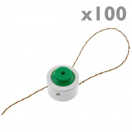 Precintos de cuadro eléctrico Plomillos de plástico 100-pack