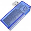Voltímetro USB con visores de 4 dígitos