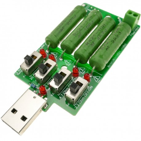 Resistencia de carga electrónica 4 x 5VDC 1A 2A 3A
