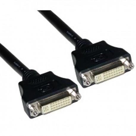 Cable DVI-I hembra a DVI-I hembra de 7 m