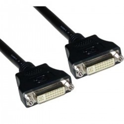Cable DVI-I hembra a DVI-I hembra de 15 m